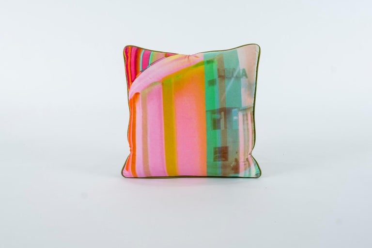 Modern Luna Art Photography Velvet Pillow by Vandertol Studios For Sale