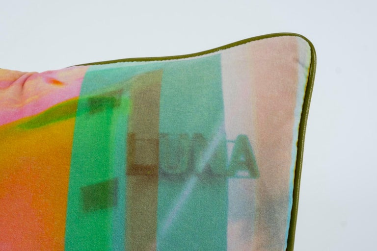 Luna Art Photography Velvet Pillow by Vandertol Studios In New Condition For Sale In Houston, TX