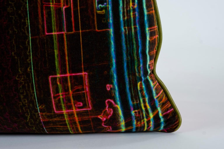 Contemporary Luna Art Photography Velvet Pillow by Vandertol Studios For Sale