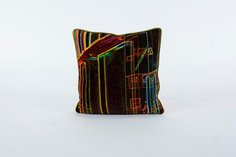 Luna Art Photography Velvet Pillow by Vandertol Studios For Sale 2