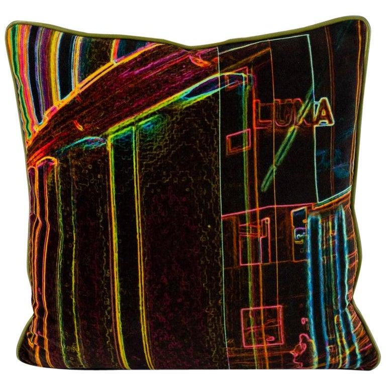 Luna Art Photography Velvet Pillow by Vandertol Studios For Sale