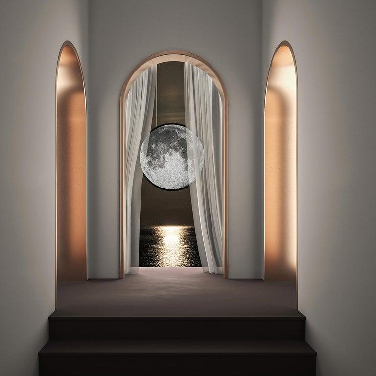 Italian Luna Caduta Mosaic Pendant Lamp by Andrea Radice For Sale
