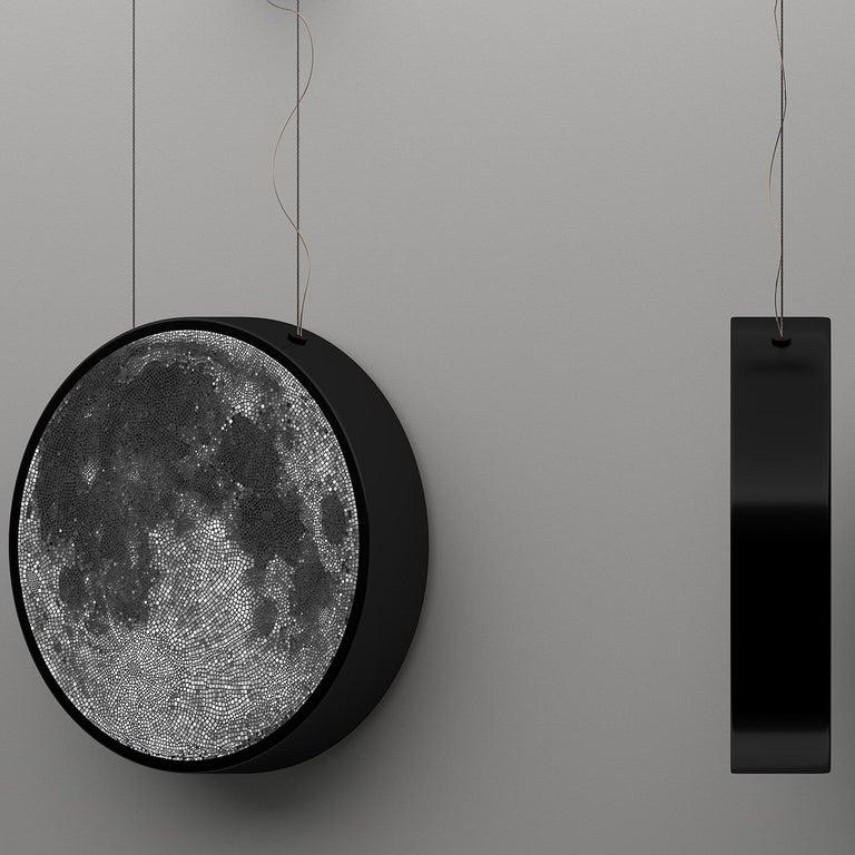 Contemporary Luna Caduta Mosaic Pendant Lamp by Andrea Radice For Sale