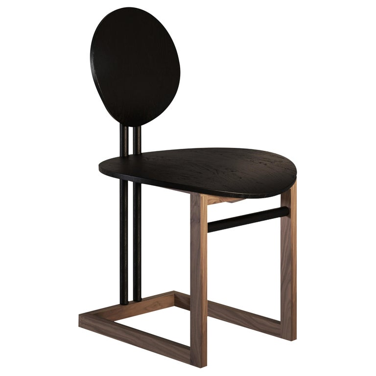 Luna Contemporary Dining Chair in Wood  by Artefatto Design Studio For Sale