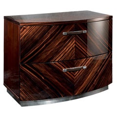 Luna Ebony Macassar Night Table by Giorgio Collection