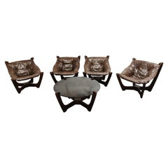 Luna Lounge Chairs by Odd Knutsen, 1970s