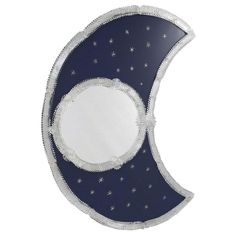 Luna Murano Glass Mirror For Sale