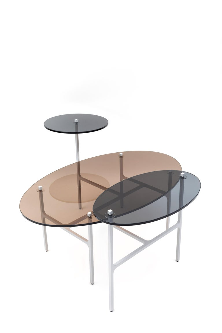 Powder-Coated LUNA Nesting Table For Sale