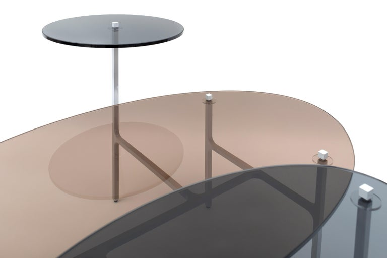 LUNA Nesting Table In New Condition For Sale In NEW YORK, NY