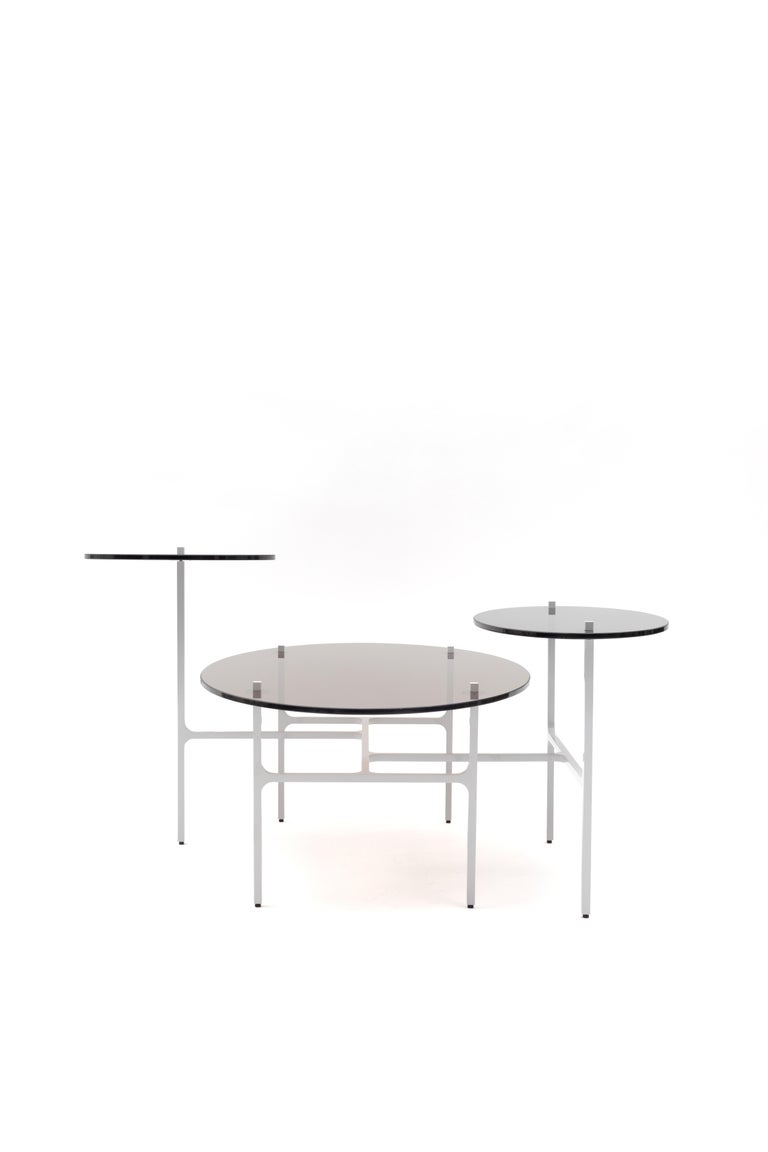 Aluminum LUNA Nesting Table For Sale
