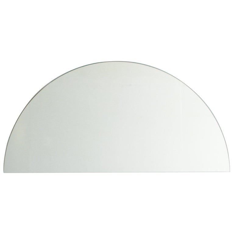 Silver Tinted Luna Half Moon Orbis Mirror 1 Piece