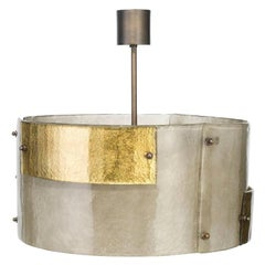 Luna Piena Drum in Murano Glass, Brutalist Style