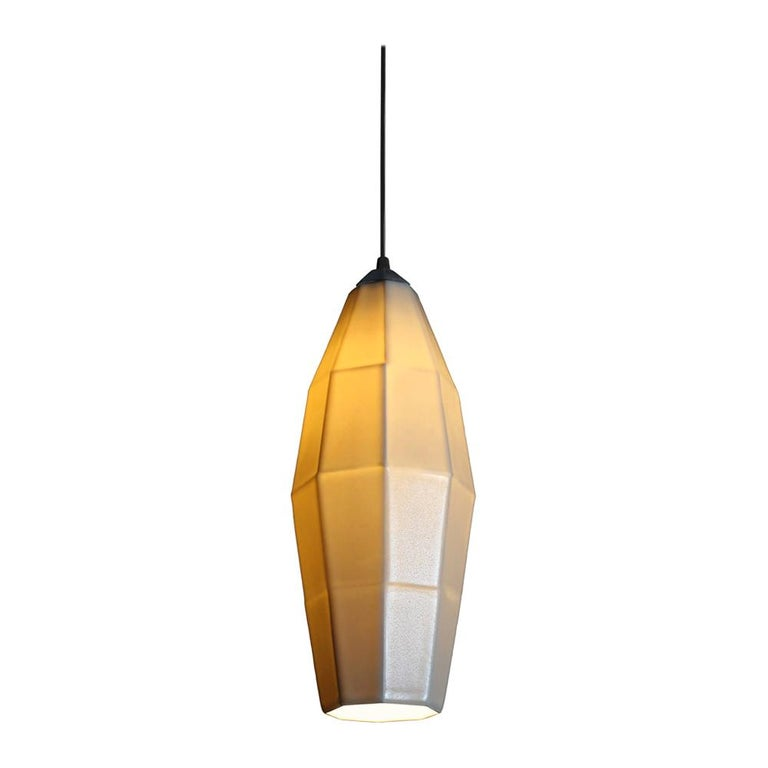 21 inch hanging pendant light forget glass. With the soft glow of diffused light through a translucent porcelain shade, the Extension 2 hanging pendant light brings updated, eye-catching, modern lighting to any space. Hang this geometric statement