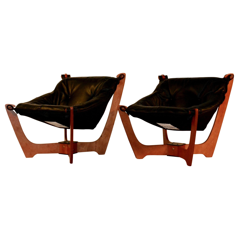 Luna Sling Chairs, Midcentury