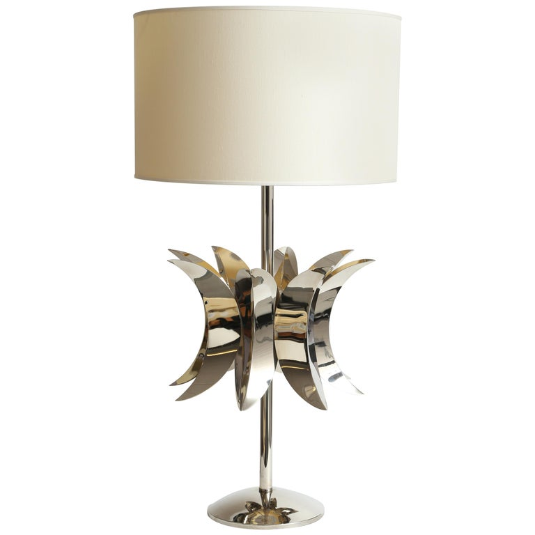 Luna Table Lamp by Selezioni Domus, Made in Italy For Sale