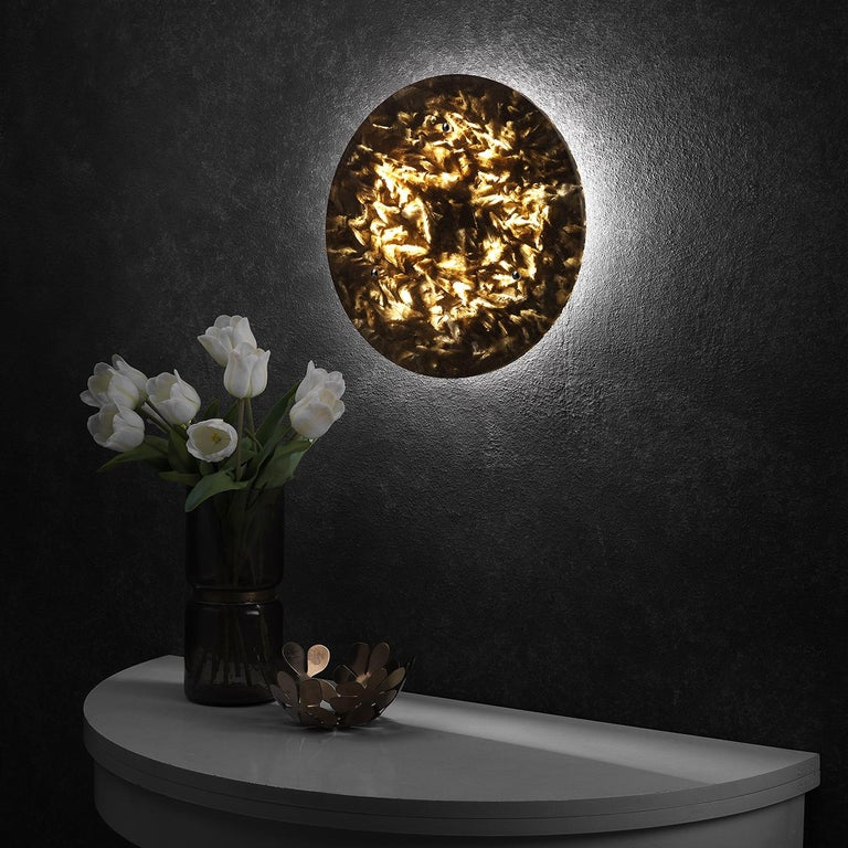 Italian Luna Wall Sconce For Sale