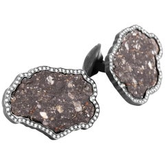 Lunar Breccia 18 Karat Gold Cufflinks, Limited Edition