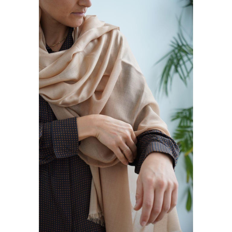 Custom design by Studio Variously, Lunar scarf / wrap / shawl is a finely handwoven piece by master artisans in Nepal.