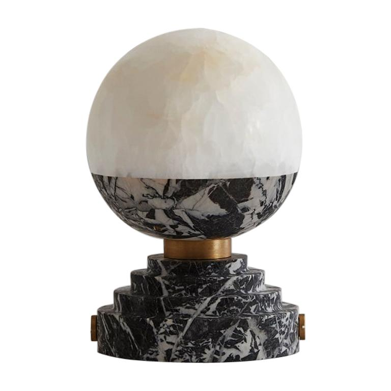 Lunar Table Lamp Grand Antique Brushed Brass For Sale