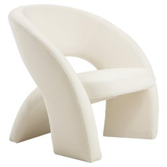 'LunaSedia' Modernist Sculpted Armchair