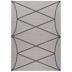 Lune Cara Silver Carpet by Gio Ponti