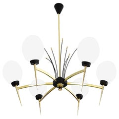 LUNEL Gorgeous French Midcentury Chandelier, 1950s