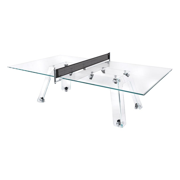 Lungolinea Black Chrome Edition, Ping Pong Table, by Impatia For Sale