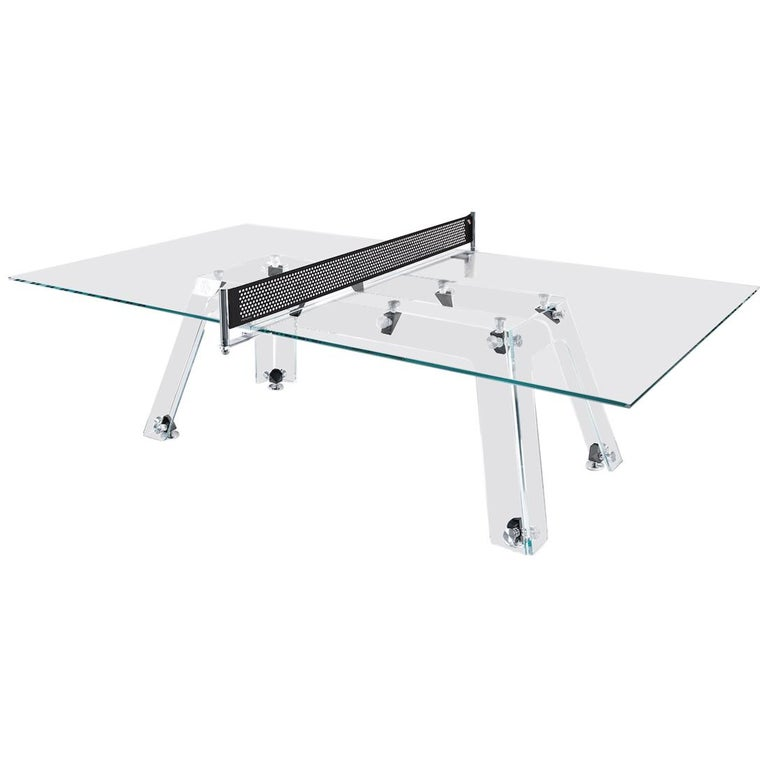 Lungolinea Black, Contemporary Design Table Tennis/ Ping Pong Table by Impatia For Sale