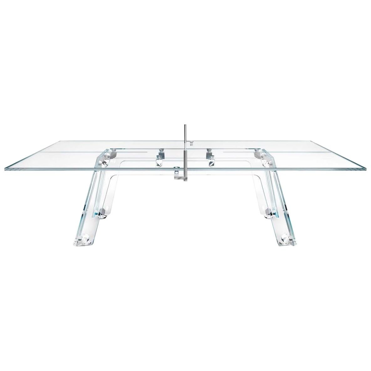 Lungolinea Chrome, Contemporary Design Table Tennis/ Ping Pong Table by Impatia