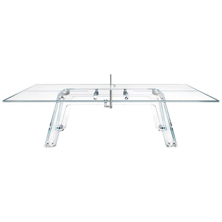 Lungolinea Chrome, Contemporary Design Table Tennis/ Ping Pong Table by Impatia For Sale