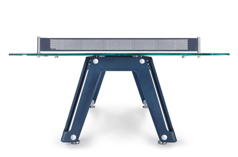 Modern Lungolinea Leather Ping Pong Table by Impatia For Sale