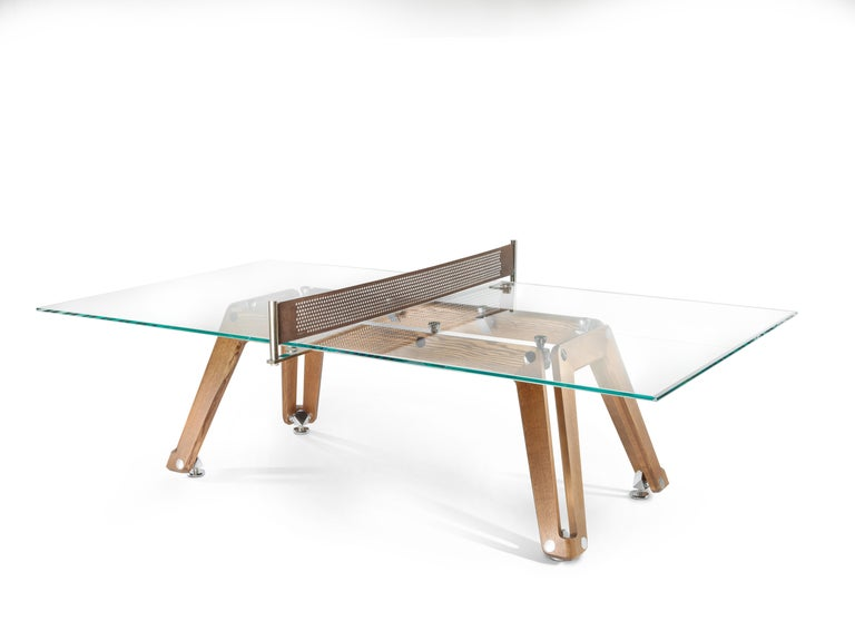 Lungolinea Premium Gold Edition, Ping Pong Table, by Impatia For Sale 1