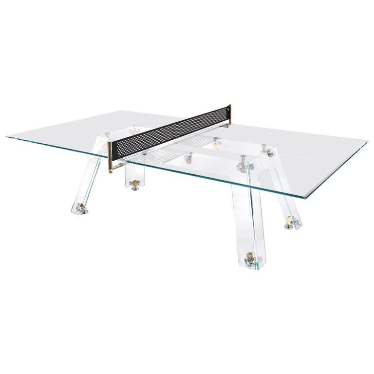 Lungolinea Premium Gold Edition, Ping Pong Table, by Impatia For Sale
