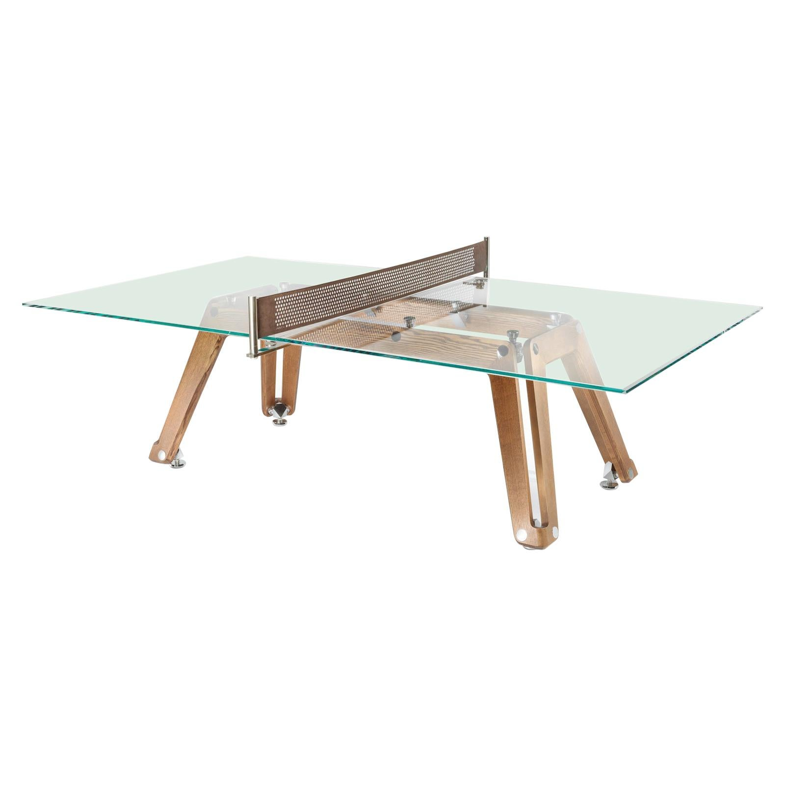 Lungolinea Wood, Contemporary Design Table Tennis/ Ping Pong Table by Impatia