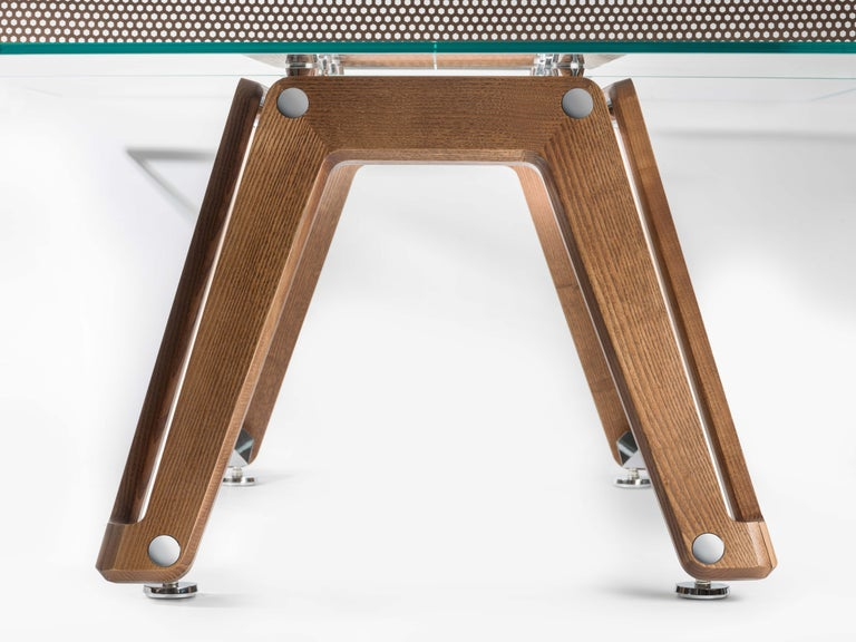 Lacquered Lungolinea Wood Edition Ping Pong Table by Impatia For Sale