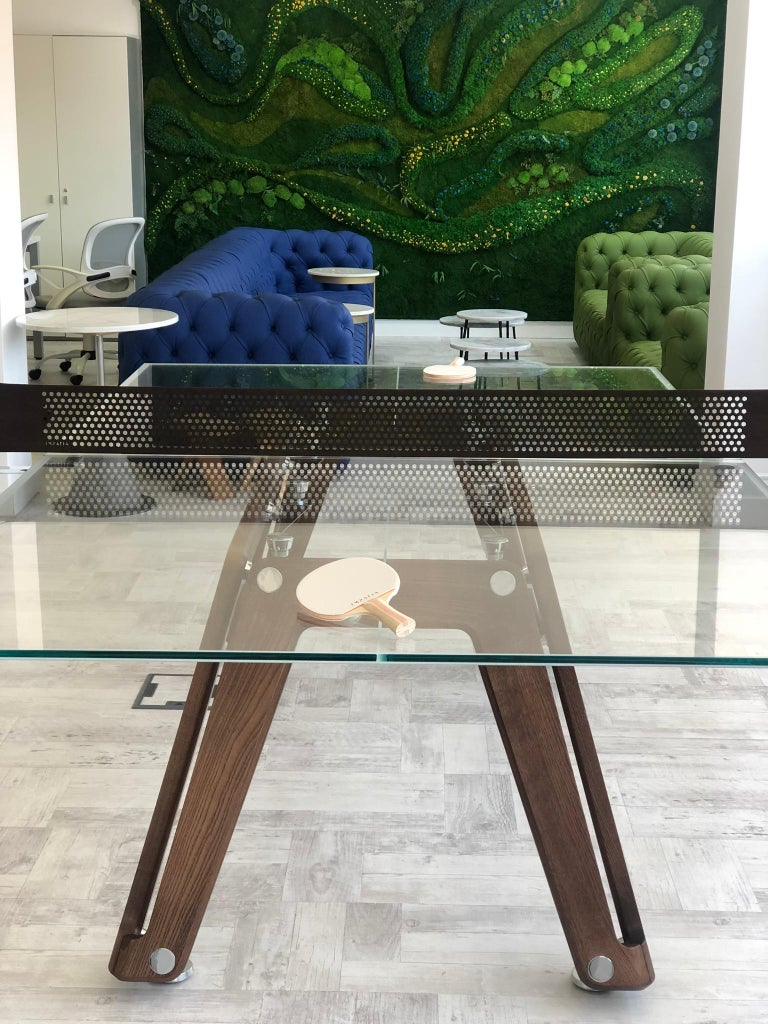 Lungolinea Wood Edition Ping Pong Table by Impatia In New Condition For Sale In Milan, IT