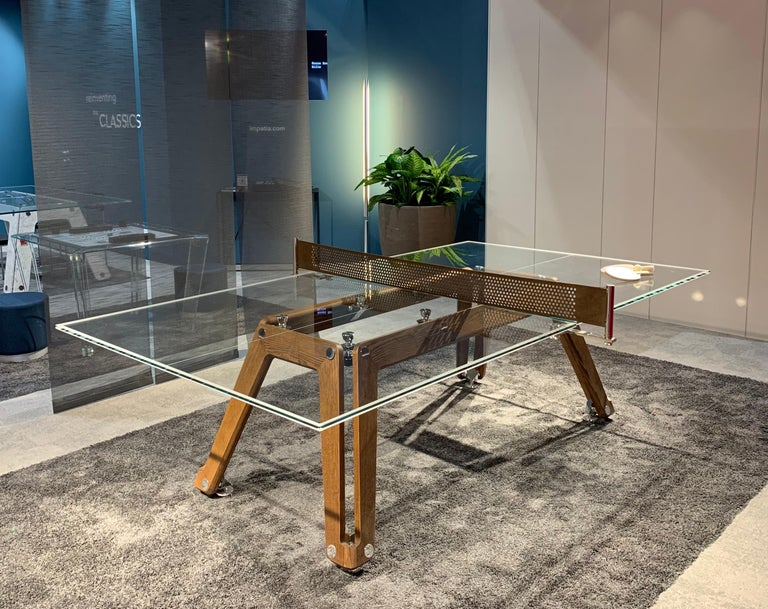 Contemporary Lungolinea Wood Edition Ping Pong Table by Impatia For Sale