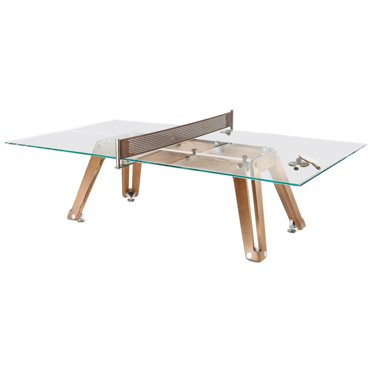 Lungolinea Wood Edition Ping Pong Table by Impatia For Sale
