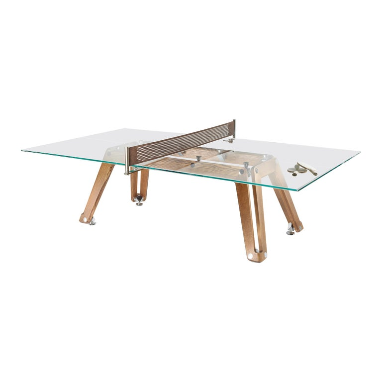Lungolinea Wood Edition, Ping Pong Table, by Impatia For Sale