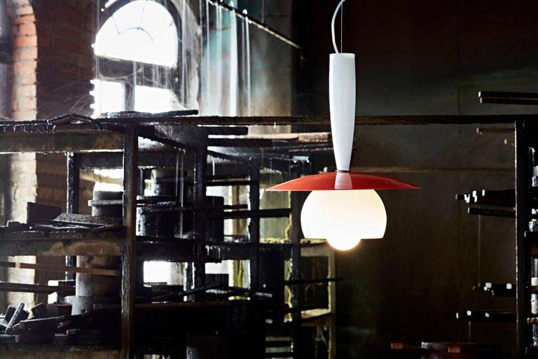 Modern Lungomare B Suspension Lamp in Green by Carlo Moretti For Sale
