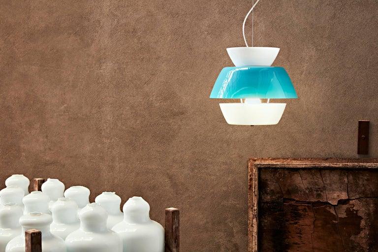 Italian Lungomare C Suspension Lamp in Orange by Carlo Moretti For Sale