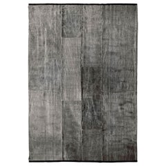 Luoghi Light Wool Thin Natural Washable Grey Rug by Deanna Comellini 260x350 cm