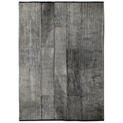 Luoghi Wool Thin Light Natural Contemporary Rug by Deanna Comellini