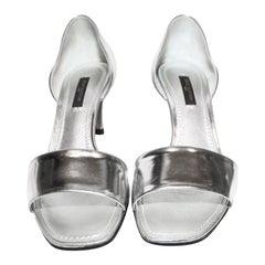 Luscious Louis Vuitton Sparkling Silver Tone D'Orsay Shoes