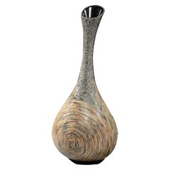 Lusia Robinson Vase Infinity Fibreglass High Grey Black Brown
