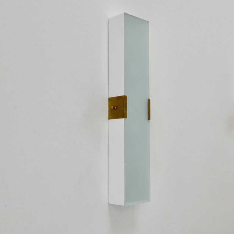 Mid-Century Modern LUsquare Sconce RT 'White' For Sale