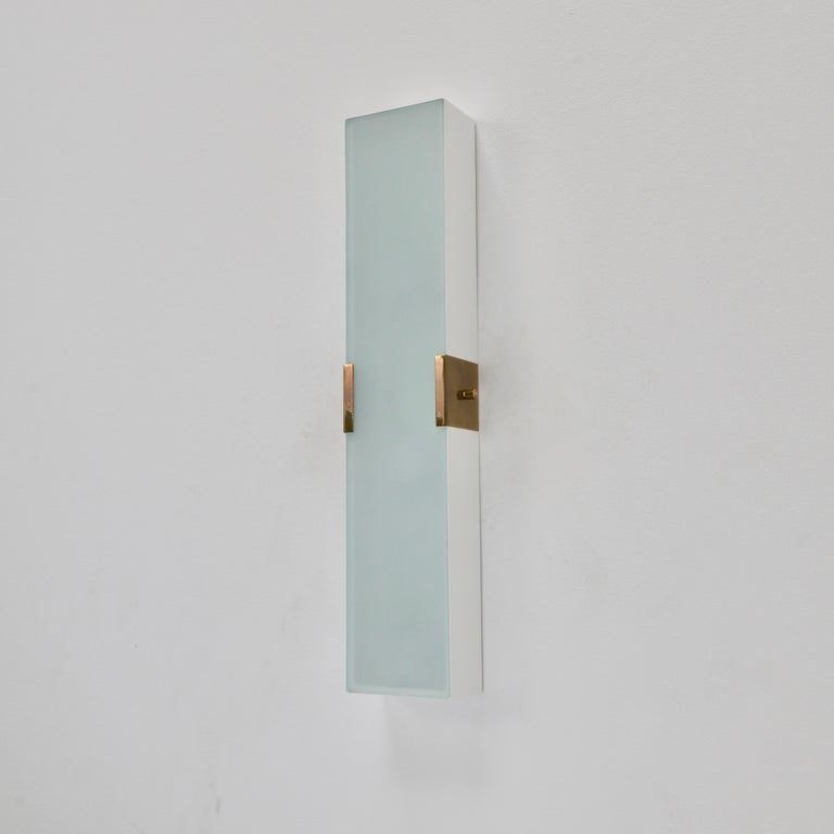 Contemporary LUsquare Sconce RT 'White' For Sale