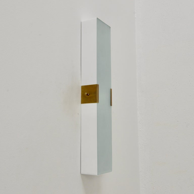 Steel LUsquare Sconce RT 'White' For Sale