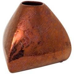 Luster Ceramic Midcentury Vase by Corrado Corradi Dell'Acqua for Azucena, 1950s