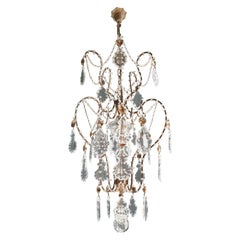Lustré Cage Chandelier Crystal Ceiling Lamp Hall Lustre Antique Art Nouveau